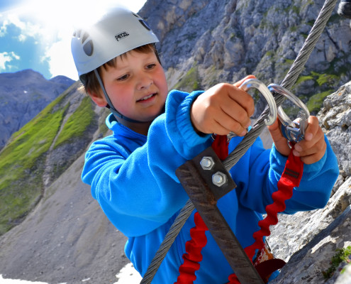 Exercise via ferrata for adults and children Guttenberghaus-apartment Montanara