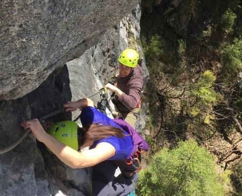 geführte Klettersteigtour-Apartment Montanara