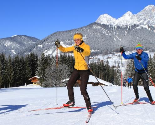 Langlaufzentrum Ramsau am Dachstein - Winterurlaub im Apartment Montanara